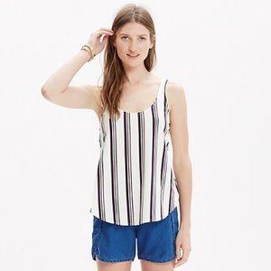 Madewell split side striped tank top